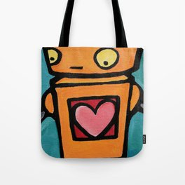 Robot - This Is Wobbly Love Tote Bag