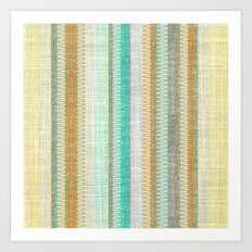 Vintage Tweed Stripe Art Print