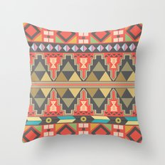 Aztec Flame Throw Pillow