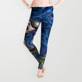 Blue haired girl Leggings