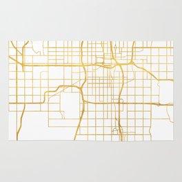 OKLAHOMA CITY STREET MAP ART Rug