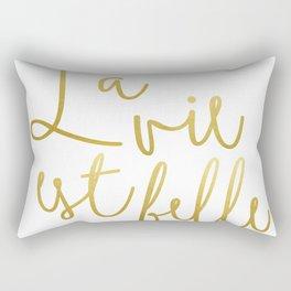 La vie est belle #society6 #typography #buyart Rectangular Pillow