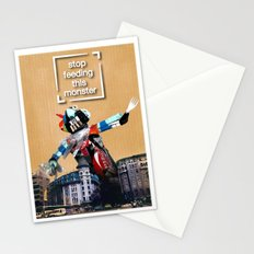 garbage monster Stationery Cards