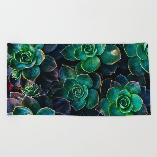 Succulent fantasy Beach Towel