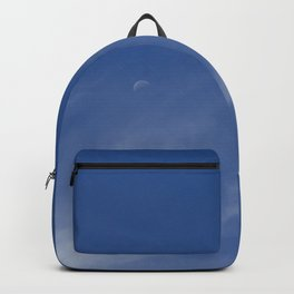 Moon in the sky. Backpack