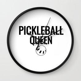 Pickleball  Queen New Wall Clock