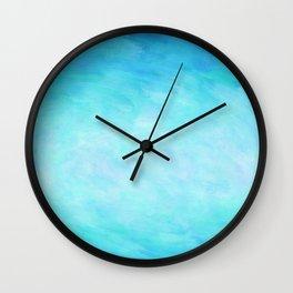 Blue Healing Waters Wall Clock