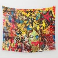 industrial Wall Tapestries featuring Industrial Chíc Album Cover by Pluto00Art / Robin Brennan