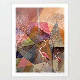 FLAMINGOS P23-C Art Print