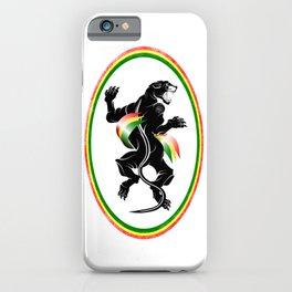 Black Panther Rastafarian Flag iPhone Case