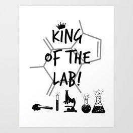 King of The Lab Art Print
