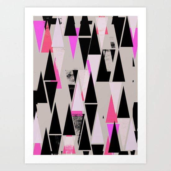 Pink Triangles II Art Print