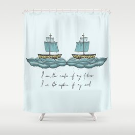 Captain of My Soul Shower Curtain