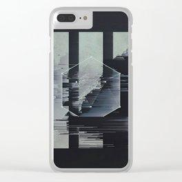 glitch art Clear iPhone Case