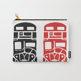 London bus linoprint Carry-All Pouch