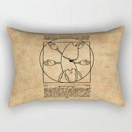 Vitruvian Gerbil Rectangular Pillow