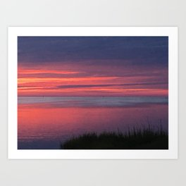 Dusk in the outer banks Art Print