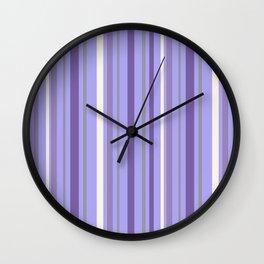 Luscious Lavender Stripes Wall Clock