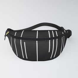 Abstract White Lines Fanny Pack