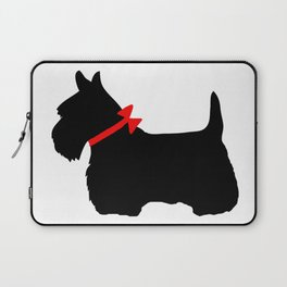 Scottie Dog with Red Bow Laptop Sleeve