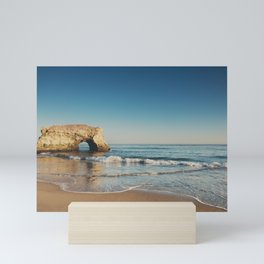 Natural Bridges State Beach ... Mini Art Print