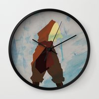 aang Wall Clocks featuring Aang by JHTY