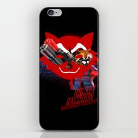 rocket raccoon iPhone & iPod Skins featuring Rocket Raccoon by Markusian