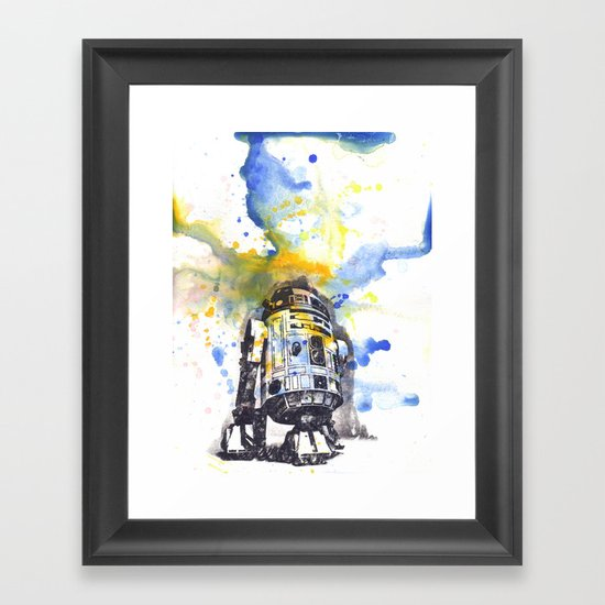 R2D2 from Star Wars Framed Art Print