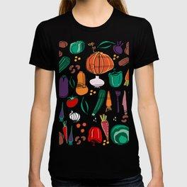 fall veggies yellow T-shirt