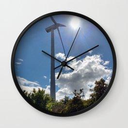 Wind Farm in the Sun Wall Clock