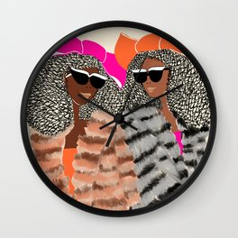 Lovely Friends for Lovely Birthdays Wall Clock