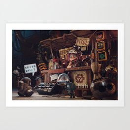 The Junk Shop Art Print