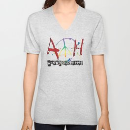 Angry Old Hippie Unisex V-Neck