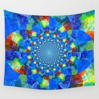 kaleidoscope Wall Tapestries featuring Kaleidoscope  by haroulita