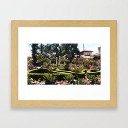 Hearst Castle Garden  Framed Art Print