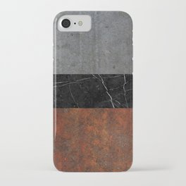 Concrete, Marble and Rusted Iron Abstract iPhone Case