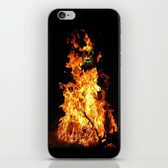 Fire demon iPhone & iPod Skin