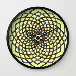 Green and Gold Celtic Knot Wall Clock
