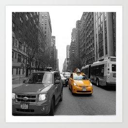 NY´s cab Art Print