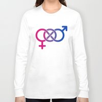bisexual Long Sleeve T-shirts featuring Bisexual by Clara Hollins
