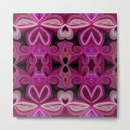 Double Pink Lotus Metal Print