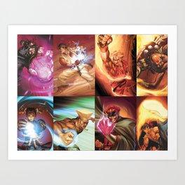 Street Fighter Favorites Art Print
