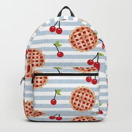 Pies with stripes trendy food fight apparel and gifts Backpack