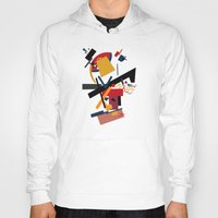 kandinsky Hoodies featuring TOO MANY THOUGHTS by THE USUAL DESIGNERS