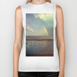 Rainbow Over Sea Biker Tank