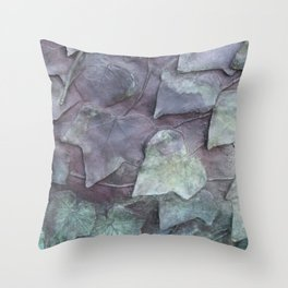 BRONZE LEAVES Throw Pillow