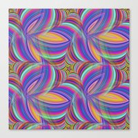 psychedelic Canvas Prints featuring Psychedelic by David Zydd