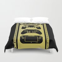 gamer Duvet Covers featuring Modern Gamer by AngoldArts