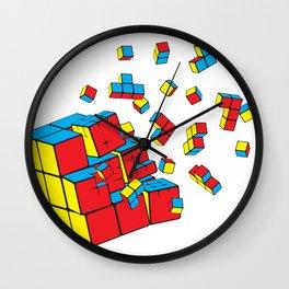 Rubixplosion Wall Clock