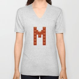 "Letter ""M"" print in beautiful design Fashion Modern Style Unisex V-Neck"